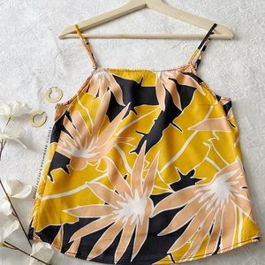 Cropped Tropical Tank Top